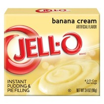 Jell-O - Banana Cream Pudding 85 Gram