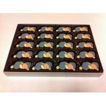 Chocolade Baby's Blauw  10 Stuks