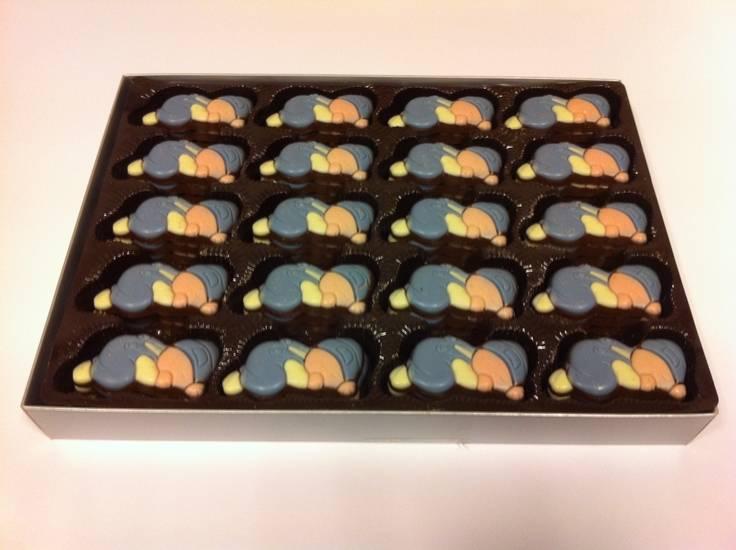 Overige Chocolade Baby's Blauw  10 Stuks