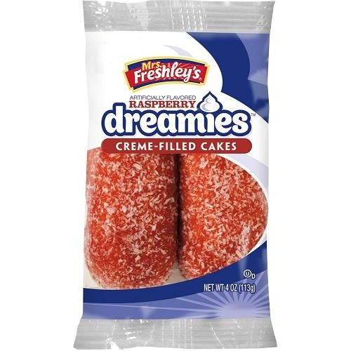 Mrs Freshleys Mrs Freshleys Raspberry Dreamies Creme Cakes Twin Pack 113 Gram
