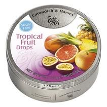 Cavendish & Harvey Tropical Fruit Drops Sugar Free 175 Gram