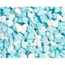 Fortuin - Wit Blauwe Pepermunt Hartjes 1 Kilo