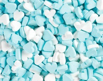 Fortuin Fortuin - Wit Blauwe Pepermunt Hartjes 1 Kilo