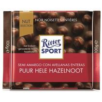 Ritter Sport - Puur Hele Hazelnoot 100 Gram