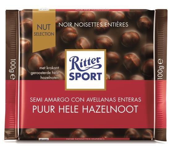 Ritter Sport Ritter Sport - Puur Hele Hazelnoot 100 Gram