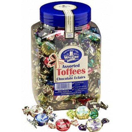 Walkers Walkers Assorted Toffees & Chocolate Eclairs 1250 Gram