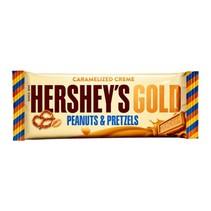 Hershey's - Gold Caramelized Crème Bar - Peanuts & Pretzels 39 Gram