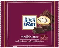 Ritter Sport Ritter Sport - Puur 50% 100 Gram