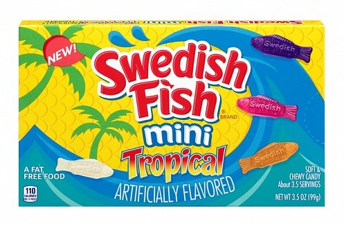 Swedish Fish Swedish Fish - Tropical Videobox 99 Gram