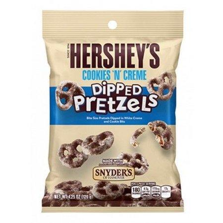 Snyders Hershey'sy/Snyders - Dipped Cookies 'n Creme Coated Pretzel 120 Gram