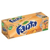 Fanta - Peach 355ml 12 Blikjes