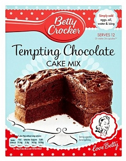 Betty Crocker Betty Crocker - Tempting Chocolate Cake Mix 425 Gram