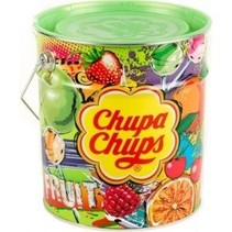Chupa Chups - Blik Fruit 150 Lolly's 6 Blikken