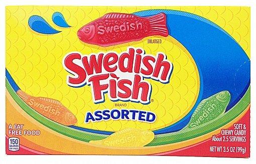 Swedish Fish Swedish Fish Assorted Box 88 Gram.