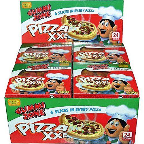 Overige Gummy Zone Pizza Candy 6 Slices 24 Stuks