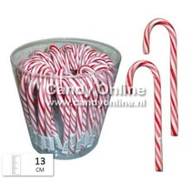 Candy Canes Rood / Wit 13 cm 50 Stuks