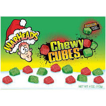 Warheads - Christmas Sour Cubes Theatre Box 113 Gram