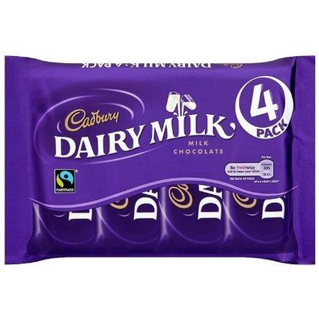 Cadbury Cadbury - Dairy Milk 4-Pack 117,2 Gram