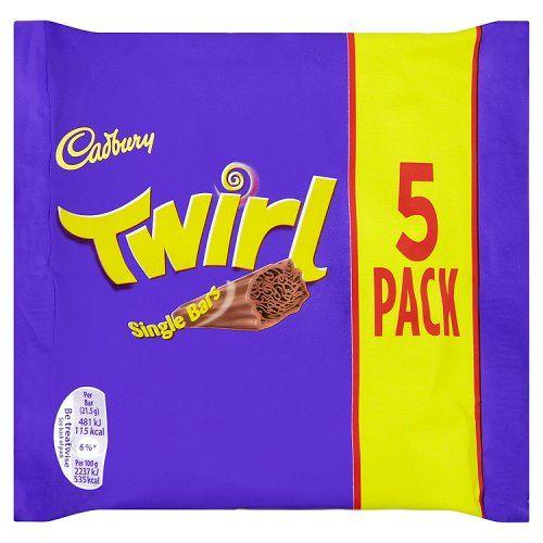 Cadbury Cadbury - Twirl 5-Pack 107,5 Gram