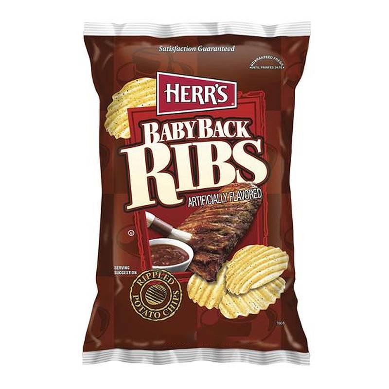 Herrs Herr's - Baby Back Ribs Potato Chips 198,5 Gram