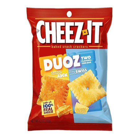 Cheez-It Cheez It - Duoz Cheddar Jack & Baby Swiss 122 Gram