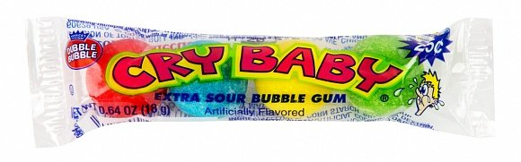 Cry Baby Extra Sour Bubble Gum 18 Gram