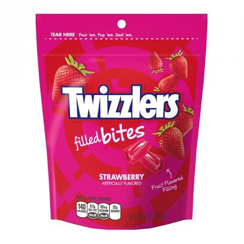 Twizzlers Twizzlers - Strawberry Filled Bites Pouch 226 Gram