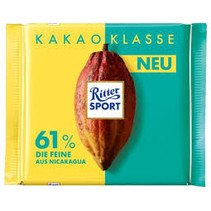 Ritter Sport - Cocoa Selection Cocoa Selection 61% Fine From Nicaraqua 100 Gram