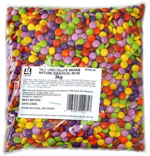 Milk Chocolate Beans (Smartie Look A Like) 200 Gram