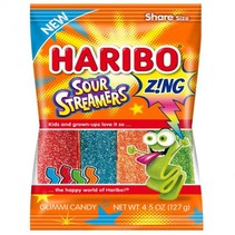 Haribo - Sour Streamers Peg Bag 127 Gram