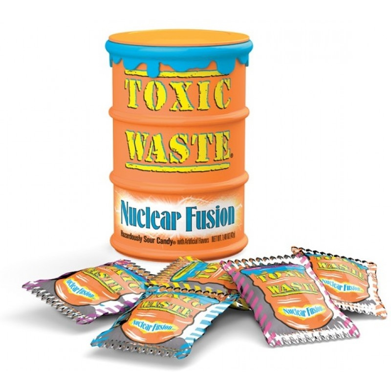 Toxic Waste Toxic Waste - Nuclear Fusion Sour Candy Drum