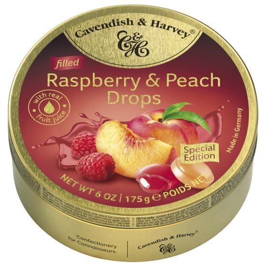 Image of Cavendish & Harvey Cavendish & Harvey - Filled Raspberry & Peach Drops 175 Gram 92234725