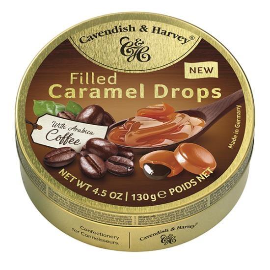 Cavendish & Harvey Cavendish & Harvey - Filled Coffee Caramel Drops 130 Gram