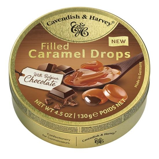 Cavendish & Harvey Cavendish & Harvey - Filled Chocolate Caramel Drops 130 Gram
