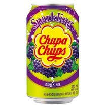 Chupa Chups - Sparkling Grape Drink 345ml (import uit Korea)