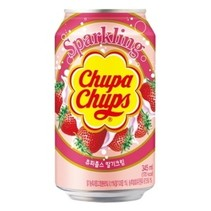 Chupa Chups - Sparkling Strawberry Drink 345ml (import uit Korea)