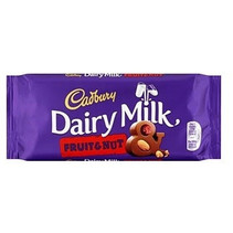 Cadbury - Dairy Milk Fruit & Nut 110 Gram