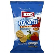 Herr's - Ranch & Habanero Potato Chips 184,3 Gram