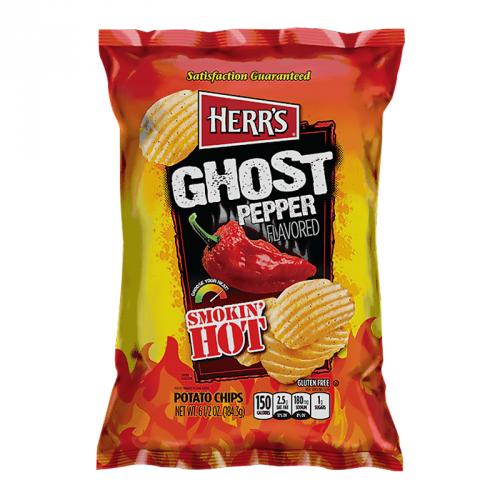 Herrs Herr's - Smokin' Hot Ghost Pepper Potato Chips 184,3 Gram