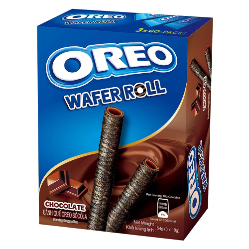 Oreo Oreo - Chocolate Wafer Rolls 54 Gram