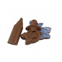 Geboorte Chocolade Figuurtjes Blauw 10 stuks