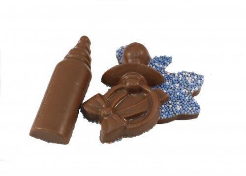 Overige Geboorte Chocolade Figuurtjes Blauw 10 stuks