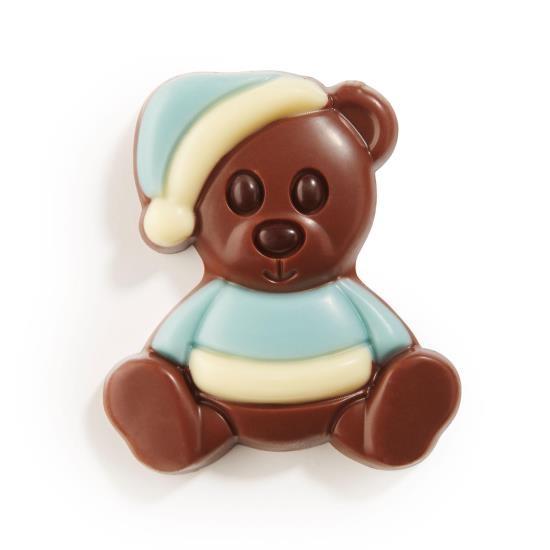 Geboorte Chocolade knuffelbeertjes Blauw 10 stuks
