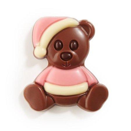 Geboorte chocolade knuffelbeertjes Roze 1,5kg