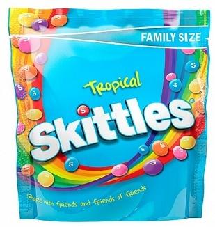 Skittles Skittles - Tropical Pouch 196 Gram