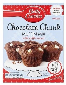 Betty Crocker Betty Crocker - Muffin Mix Choc Chunk 335 Gram (UK Product)