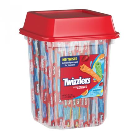 Twizzlers Twizzlers - Rainbow Twists Tub 105 Stuks 779 Gram