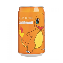 Ocean Bomb Pokemon Charmander Orange Flavour Sparkling Water 355ml