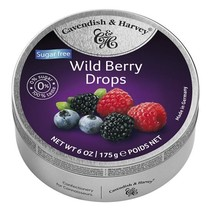 Cavendish & Harvey - Wild Berry Drops Suikervrij 175 Gram