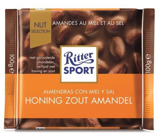 Ritter Sport Ritter Sport - Honing Zeezout 100 Gram
